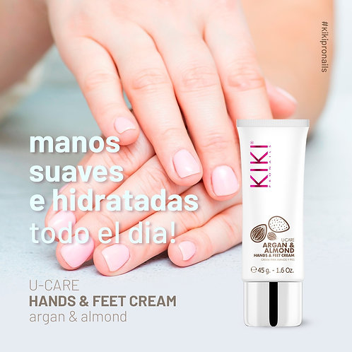 KIKI HANDS CREAM -  Crema para Manos -  Argan & Almendras 45GRS