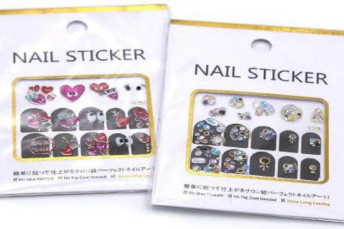 DECO Stickers para decorado de uñas 14 diseños diferentes por pack.