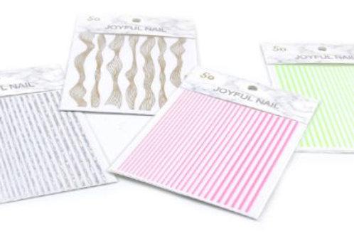 DECO Stickers para decoraciones de uñas. 4 modelos diferentes