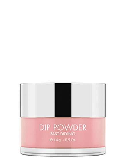 KIKI DIP POWDER SYSTEM - FAST DRYING GLITTER - Tono DP 93 - Baby Pink