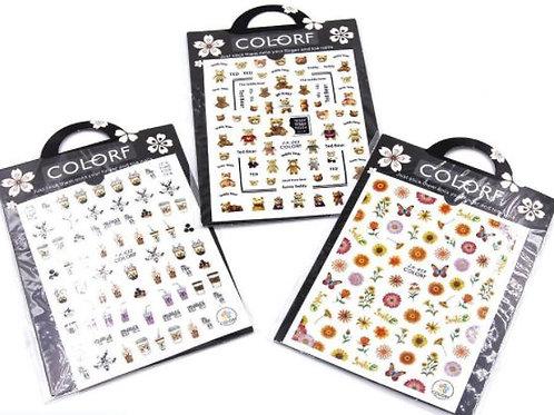 DECO Stickers para decoraciones en uñas. Diferentes modelos