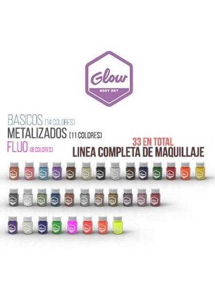 GLOW LINEA COMPLETA DE MAQUILLAJE