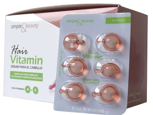 SIMPLE & BEAUTY Serum para el cabello en blister