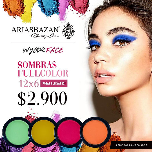 IN YOUR FACE KIT FULL COLOR SOMBRAS 12X6
