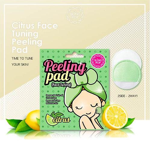 BLING POP Pads faciales exfoliantes con Citrus unidosis