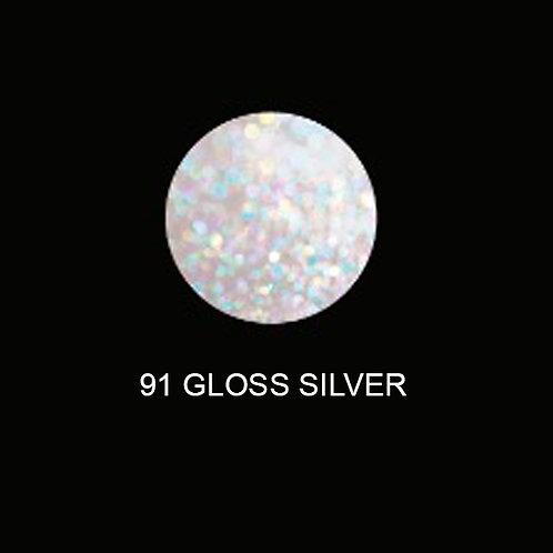 KIKI U-VLED NAIL - Tono UV 91 - Gloss Silver