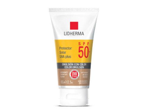 LIDHERMA PROTECTOR SOLAR UVA PLUS SPF 50+ COLOR