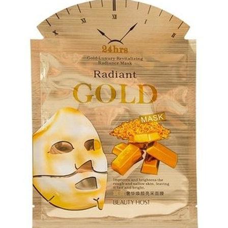 BEAUTY HOST Máscara facial de seda con extracto de oro