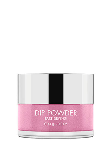 KIKI DIP POWDER SYSTEM - FAST DRYING GLITTER - Tono DP 96 - Shiny Pink
