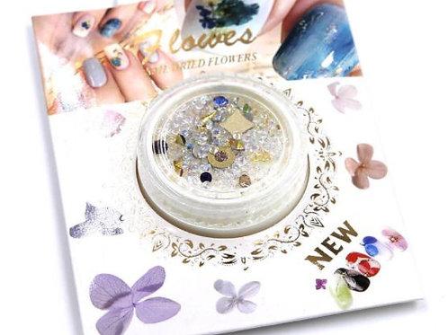 DECO Cristales para uñas. Varios diseños. En cajita Individual.