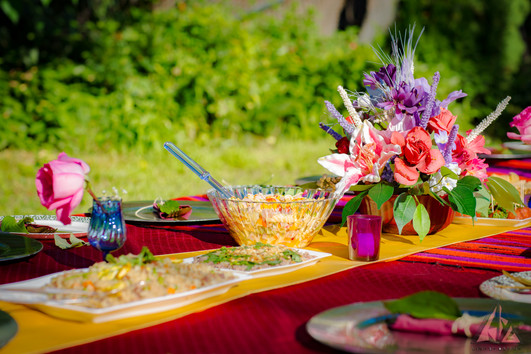Wouldn't you want to dine in color, spunk and style?