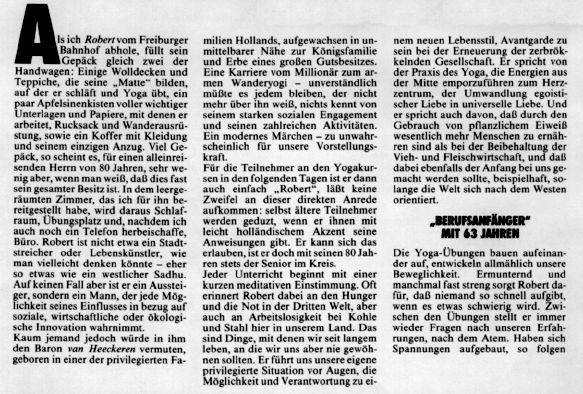 Seite 1 Artikel Robert van Heeckeren