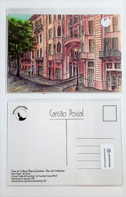Kit com cinco cartões - Casa de Cultura Mário Quintana