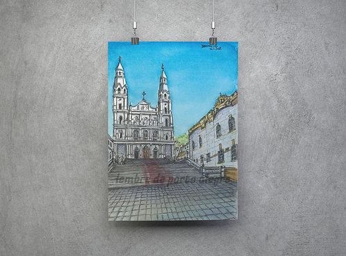 """Pôster """"Igreja Nossa Senhora das Dores""""- Imagem n.40 Coleção """"Lembre de POA"""""""