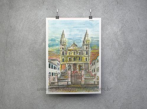 """Pôster """"Igreja Nossa Senhora das Dores""""- Imagem n.18 Coleção """"Lembre de POA"""""""