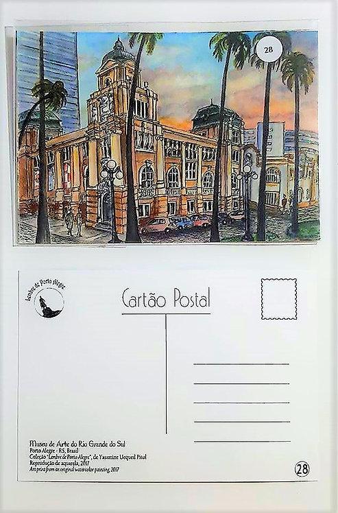 Kit com cinco  cartões postais - Museu de Arte do Rio Grande do Sul