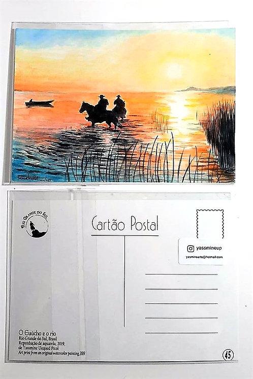 Kit com cinco cartões postais -  O Gaúcho e o Rio