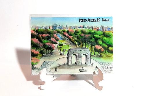 Kit com cinco ímãs  - Parque da Redenção (n.44)