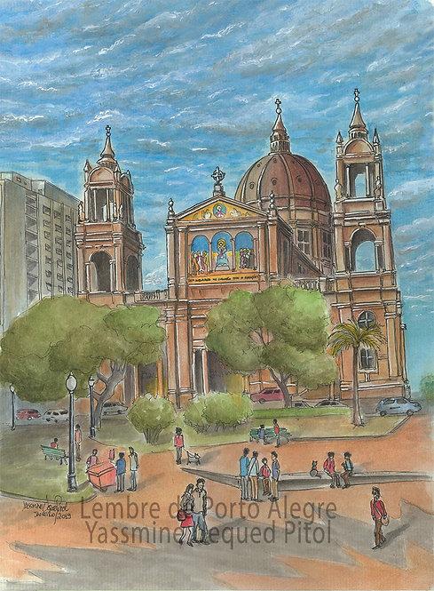 Kit com cinco cartões postais - Uma tarde na Praça da Matriz