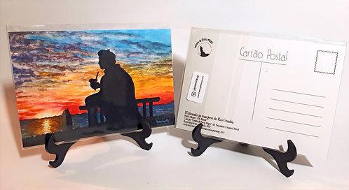Kit com cinco cartões postais - Mateando