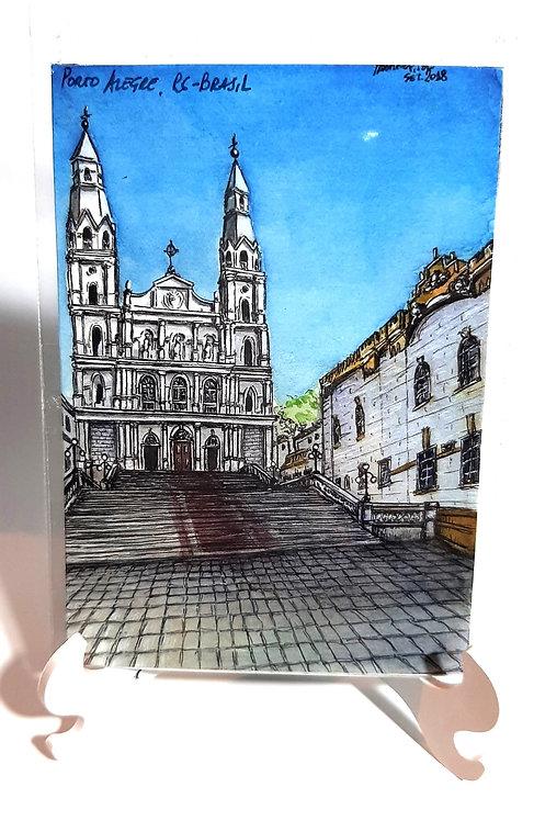 Kit com cinco ímãs  - Igreja Nossa Senhora das Dores (nº40)