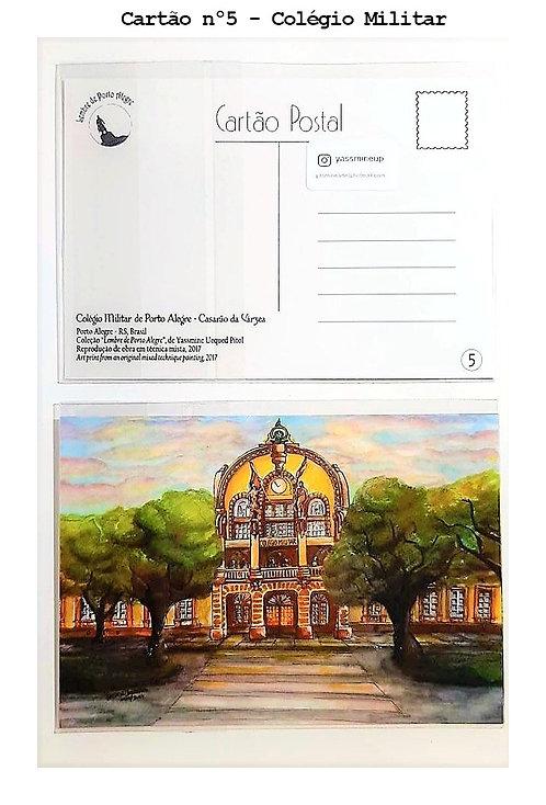 Kit com cinco cartões postais - Colégio Militar