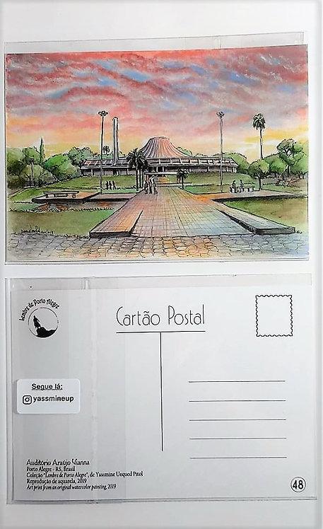 Kit com cinco cartões postais - Auditório Araújo Vianna