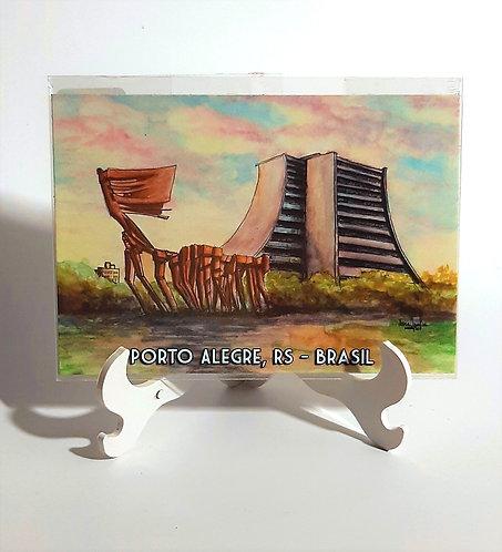 Kit com cinco ímãs  - Monumento aos Açorianos