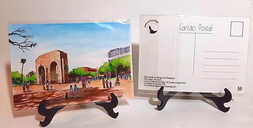 Kit com cinco  cartões postais - Parque da Redenção
