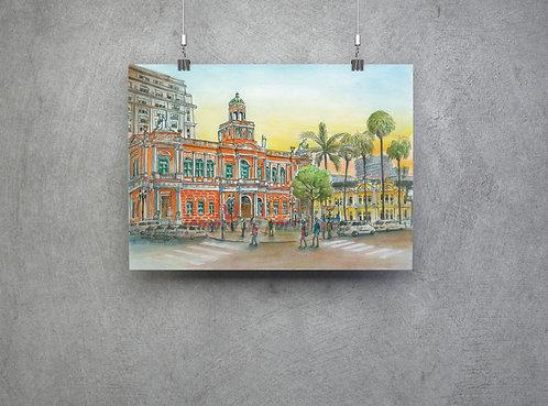 """Pôster """"Prefeitura Municipal de POA"""" - imagem n. 42 Coleção """"Lembre de Poa"""""""