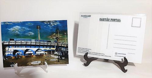 Kit com cinco cartões postais - Entardecer na Azenha