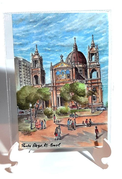 Kit com cinco ímãs  - Catedral Metropolitana de Porto Alegre (n.43)