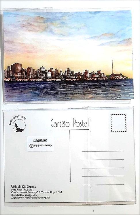 Kit com cinco cartões postais - Vista da cidade