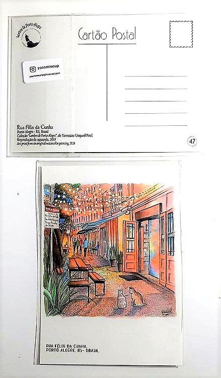 Kit com cinco cartões postais - Rua Félix da Cunha