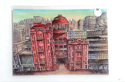 Kit com cinco cartões postais - Casa de Cultura Mário Quintana