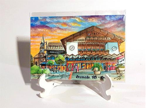 Kit com cinco imãs - Palácio dos Festivais (Gramado, RS)