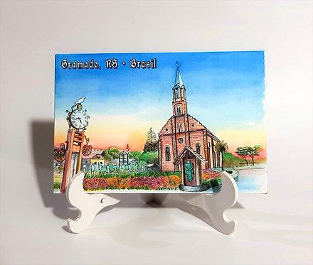 Kit com cinco imãs - Igreja São Pedro (Gramado, RS)