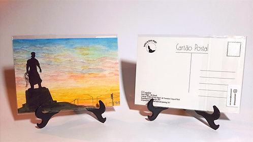 Kit com cinco cartões postais - Laçador