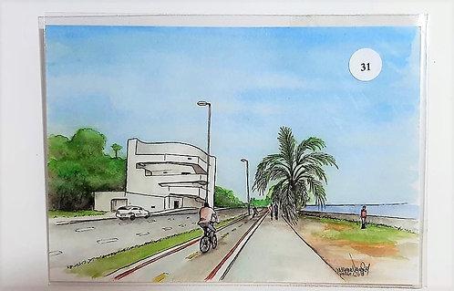 Kit com cinco cartões postais - Fundação Iberê Camargo