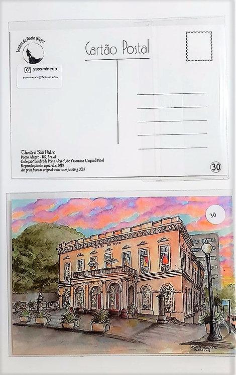 Kit com cinco cartões postais - Theatro São Pedro