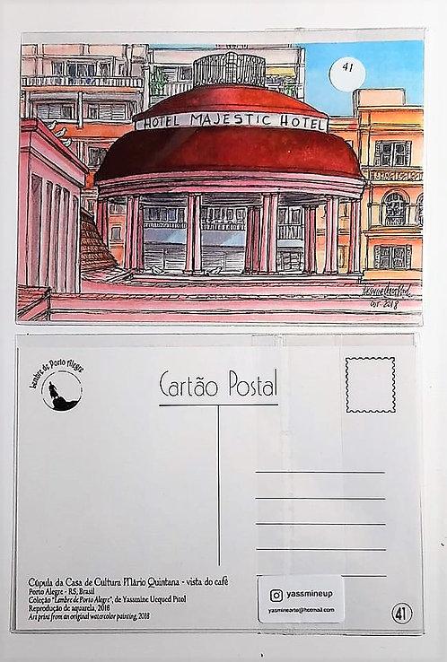 Kit com cinco cartões postais - Cúpula da Casa de Cultura Mário Quintana
