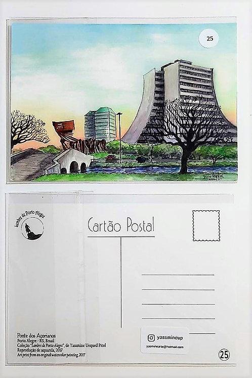 Kit com cinco cartões postais - Ponte dos Açorianos