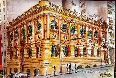 Kit com cinco cartões postais -  Biblioteca Pública do Rio Grande do Sul