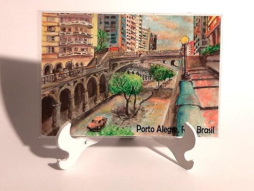 Kit com cinco ímãs  - Viaduto Otávio Rocha