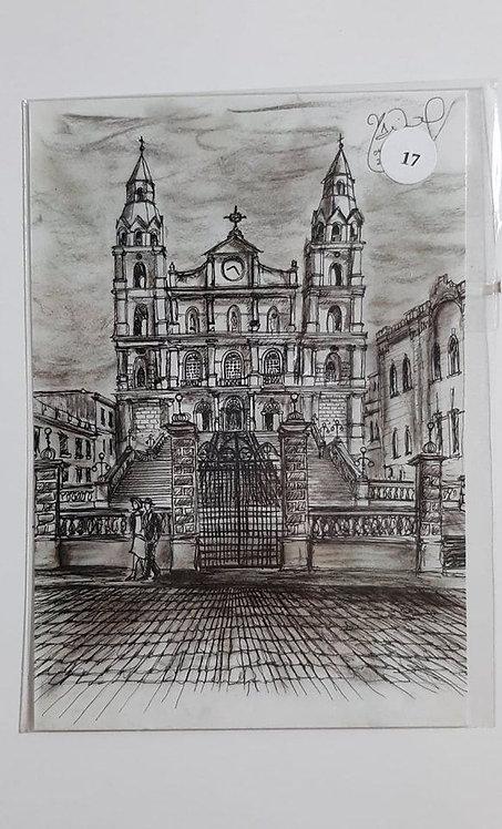 Kit com cinco cartões postais -  Igreja Nossa Senhora das Dores