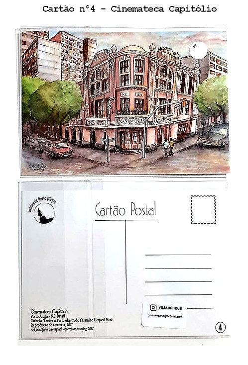 Kit com cinco cartões postais - Cinemateca Capitólio