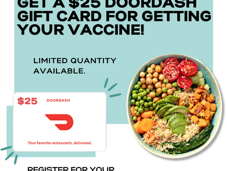 Free food for getting your vaccine!