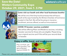 Join us at the Community Expo! Oct. 29th, 1-5 PM at City Park
