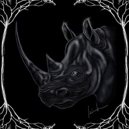 Black Rhino Mens T-Shirt