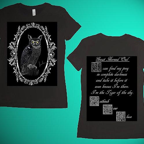 Great Horned Owl Womens T-Shirt